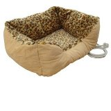 Leopard Heated Cat Bed